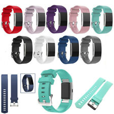 Fitbit Charge2 Replacement Band Secure Strap Wristband Metal Buckle  Small/Large
