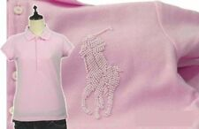 New Ralph Lauren Blue Label Big Pony Pearl Logo Polo RRP £180 - French Pink