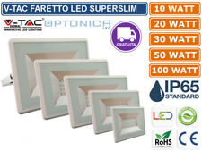 V-TAC OPTONICA FARO FARETTO LED SMD 10W 20W 30W 50W 100W ULTRA SLIM IP65 BIANCO