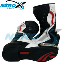 Brand New Motorbike Cowhide Leather Boots  Motorcycle Racing Riders shoes MotoGP