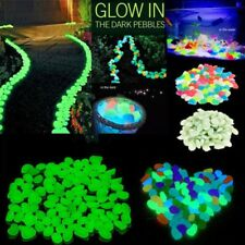 Glow In The Dark Stones Pebbles Rock Acuario Fish Tank Jardín Paseo Decor BC