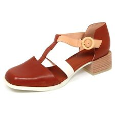 E5600 (WITHOUT BOX) decollete donna brown CAMPER scarpe leather shoe woman