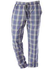 Skiny - Recreate Sleep Men - Herren Hose lang - Blue Marine Check