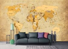 Wall Mural Photo Wallpaper Picture EASY-INSTALL Fleece Vintage World Map Image