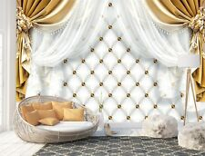 Wall Mural Photo Wallpaper Picture EASY-INSTALL Fleece Golden Curtains Image New