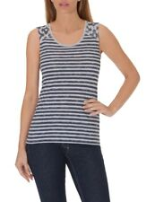 Betty Barclay mujer top camiseta camisa sin mangas rayas azules