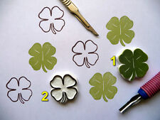 Shamrock Four Leaf Clover, clover leaf stamp. shamrock leaf, hand carved