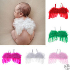 Unique Lovely Photo Prop Outfit Baby Infants Newborn Feather Angel Wings New