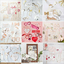 9/10 Pc Photo Booth Props Kit - Wedding Oh Baby Shower Team Bride Princess Party