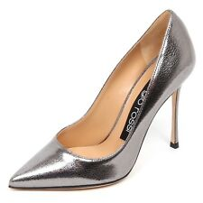 E4742 decollete donna grey lamé SERGIO ROSSI scarpe cracked effect shoe woman