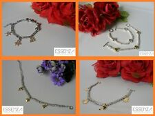 BRACCIALE MODA GRANI PEPITE CHARMS LUCK IS ON STRASS REFERENZA DOD1919