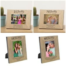 Any Age Personalised Birthday Wooden Photo Frame - Gift 18th,21st, 4th,100th