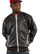 Rocawear uomo 3 STAR RIGHE Bomber Giacca da baseball G Hip Hop Money Is Time