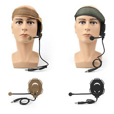 Z Tactical Headset Headphone Military Style HD-03 Airsoft Mic Radio Adjust BS6