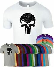Punisher Mens Gym T-Shirt Muscle Workout Fitness Bodybuilding Sports Top Tshirt