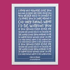 ANY SONG LYRICS Personalised Typography Print Framed Song Words First Dance Gift