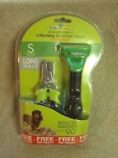 FURminator deShedding Tool for Dogs w/ Nail Clippers- S, M, L, Short, Long Hair