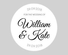Personalised Round Wedding Engagement Envelope Seals Stickers Labels 37mm