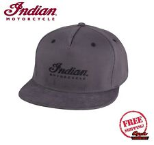 GENUINE INDIAN MOTORCYCLE SCRIPT FLEX FIT HAT GRAY NEW SCOUT CHIEF ROADMASTER