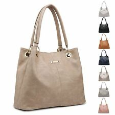 Ladies Faux Leather Slouch Handbag Designer Shoulder Bag Bucket Bag MA36036