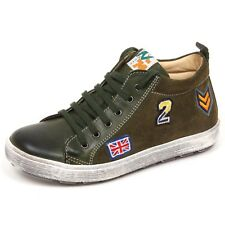 E6590 sneaker bimbo dark green NATURINO scarpe shoe kid boy