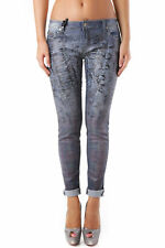 GR 69038 Blu jeans donna sexy woman sexy woman donna jeans con effetto sbiadito