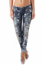 GR 69064 blu jeans donna sexy woman sexy woman donna jeans con effetto sbiadito