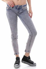 GR 59697 Rosa jeans donna sexy woman donna jeans con chiusura frontale composizi