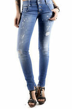 GR 71809 Blu jeans donna sexy woman sexy woman donna jeans tasche chiusura front
