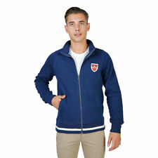 BD 74085 QUEENS-FULLZIP Blu Oxford University Felpa Oxford University Uomo Blu 7