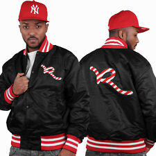 Rocawear nero da uomo bomber giacca baseball G Hip Hop Money Is Time Club A Wear