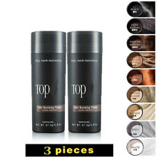 Toppik 3pcs Instant Hair Building Fibers Natural Protein Color Power Loss Hair