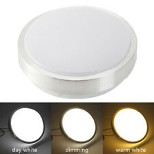 Bright Round LED Ceiling Down Light Panel Wall Kitchen Bathroom Lamp White