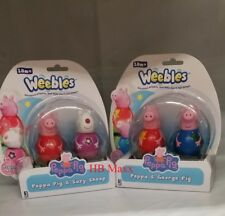 Peppa Pig & Friends 2pk Assorted Weebles Figures for Gifts - Choose Your Style