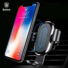 Baseus Car Mount Qi Wireless Charger For iPhone X 8 Plus Quick Charge Fast Wirel