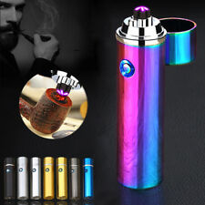 Electric Windproof Flameless Arc Lighter Dual Cigarette Plasma USB Rechargeable