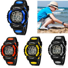 Kids Child Boy Girl Waterproof Band LED Screen Digital Sport Quartz Wrist Watch