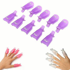 UV Gel Plastic Nail Soak Off Art Polish Remover Wrap Polish 5 Pcs Clip Cap