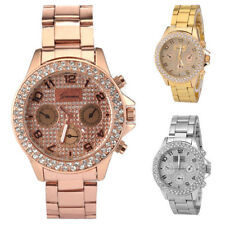 Luxury Women's Stainless Steel Bracelet Crystal Dial Analog Quartz Wrist Watch