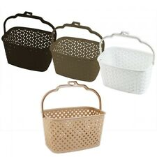 Rattan Style Plastic Peg Storage Basket Box
