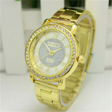 Men Women Luxury Bracelet Stainless Steel Crystal Dial Analog Quartz Wrist Watch