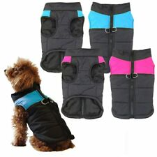 Small Dog Puppy Pet Warm Insulated Padded Coat Thick Winter Puffer Jacket QO