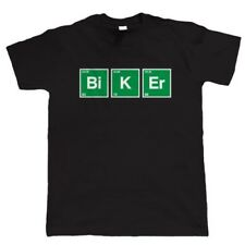 Periodic Table Biker T Shirt - Classic Vintage Superbike Gift for Him Dad