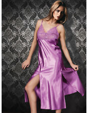 Women Satin and Lace Nightdress with Matching Knickers  European Products