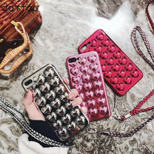 Fashion 3D Love Heart Plating Jelly Candy Soft Case For iPhone X 8 7 Plus 6s