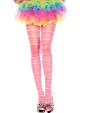 Music Legs - Calze - Collant a righe - Rosa - Rose