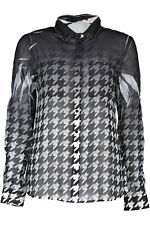 GR 82738 Negro camisa de mujer guess jeans ; guess jeans mujer camisas mangas -