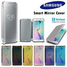 NEW Luxury Mirror Smart View Flip Leather Case Cover For All Samsung Galaxy