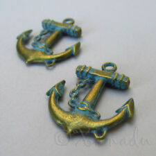 Boat Anchor Charms - 31mm Antique Bronze Patina Pendants C9202 - 2, 5 Or 10PCs