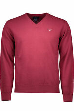 GR 68696 Rouge pull homme gant pull homme avec manches longues v-cou compo